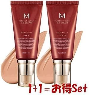 [MISSHA/ミシャ] M パーフェクトカバーBBクリーム UV (No.23)[SPF42 PA+++] (1+1)2本 セット [海外直送品]
