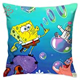 LIUYAN Pillow Cover Cushion Cover Spongebob Squarepants Decorative Pillow Case...