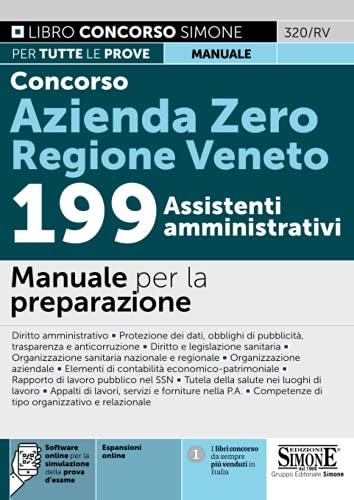 Concorso Azienda Zero Regione Veneto. 199 assistenti amministrativi
