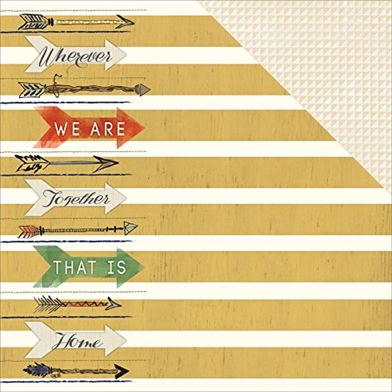 Adorn-It 25 Sheets Family Path Double-Sided Design A Cardstock, 12 x 12