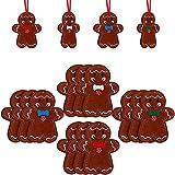 SFGH Decoraciones De Casa De Pan De Jengibre De Fieltro, Decoraciones De Hombre De Pan De Jengibre De Navidad, Decoraciones De Casa De Navidad, Adornos De Árbol De Navidad, 12 Piezas