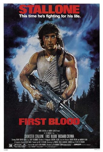 Rambo: First Blood Poster 27x40 Sylvester Stallone Richard Crenna Brian Dennehy