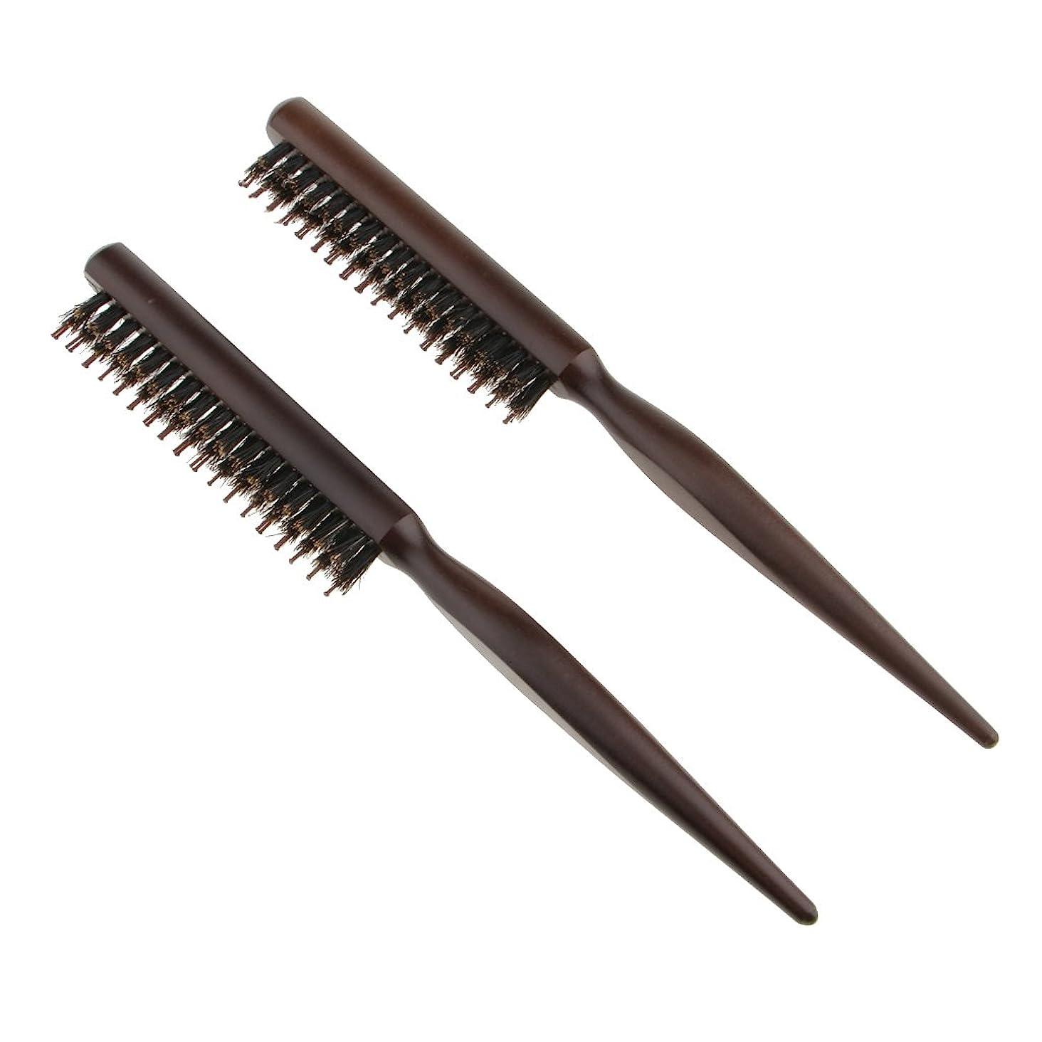掻くつかの間改善Baosity 2本 木製櫛 ヘアブラシ プロ サロン 高品質