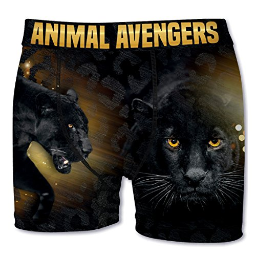 Crazy Boxer Herren Boxershort/Retroshort Fun-Edition, MEGA-Designs (L/6/50, Panther)