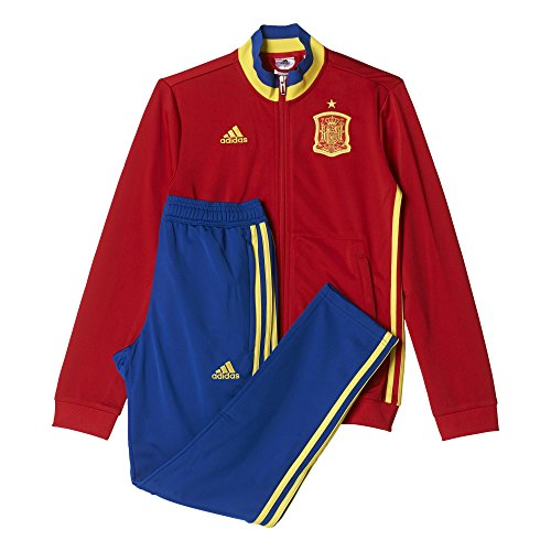 adidas Jungen Trainingsanzug FEF PES Suit Y, Rot/Gelb/Blau, 164