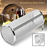 Stainless Hop Spider Beer Keg Dry Hopper Filter Screen Strainer 300 Micron Mesh for Home Beer Brewing Kettle Kegging Equipment (4 x10 inch)