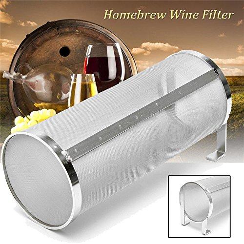 Merrday Edelstahl Hop Spider Bier Fass Trockenen Hopper Filter Sieb 300 Micron Mesh für Haus Bierbrauen Wasserkocher Kegging Ausrüstung 4X10 Zoll … (4 X 10 inch)