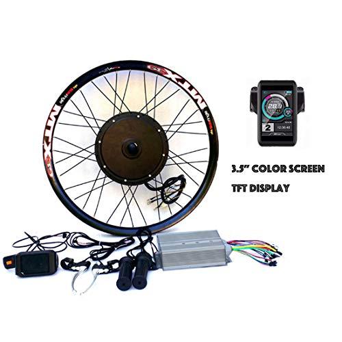 "theebikemotor 3.2"" TFT LCD+3000W Hi Speed Electric MTB Bicycle E Bike Hub Motor Conversion kit (72V3000W, 29"" Rear Wheel + Disc Brake)"