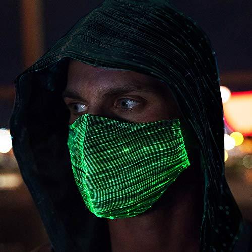 CENOVE LED Rave Mask Leuchten, 7 Farben und 5 Blitzmodi Halloween LED Leuchten Maske für Erwachsene Kind, Partei, Weihnachten, Karneval und Kostüm-Partei
