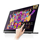 4K Portable Monitor - EHOMEWEI 15.6 Inch 3840x2160 Dual USB-C Portable Screen Laptop Monitor with...