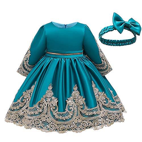 LZH Toddler Baby Girls Dress Birthday Bowknot Wedding Tutu Princess Flower...