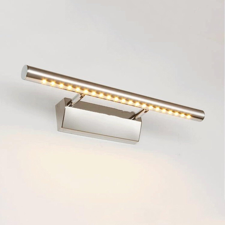 Popa Bad-Beleuchtung Art und Weise LED-Wand-Licht-Spiegel-vordere Lampen-Badezimmer-Schlafzimmer-Toiletten-Spiegel-vordere Lampen-Edelstahl-Lampen-Wand-Lampe Spiegelfrontlicht ( Farbe   Warmwei-9w 70cm )