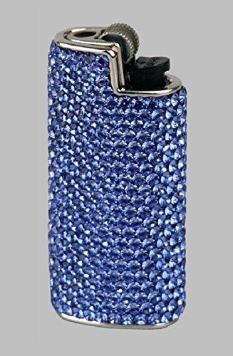 BIC Feuerzeughülle Mini Swarovski Elements blau mit Mini Feuerzeug