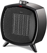 HOME_CHOICE Ceramic Space Heater Electric Portable Heater Fan with Adjustable Thermostat and Overheat Protection ETL Listed for Home Office and Kitchen Indoor Use,750W/1500W (Black)