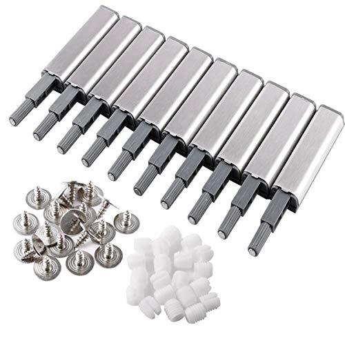 Mengger cierres magnéticos para puertas de armario con amortiguador presión y cierre magnético puerta armario cocina Libreria 10pcs Amortiguadores Open System Damper Buffer