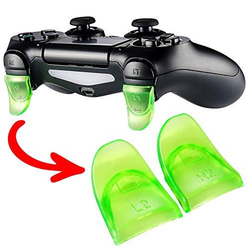 eXtremeRate 2 Paires×Triggers L2 R2 Analogue Déclencheurs Gâchettes pour Playstation 4 PS4 JDM-030 Manette Contrôleur-Vert