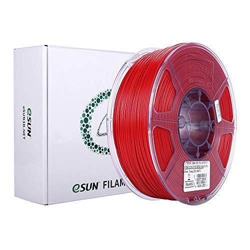 eSUN ABS+ Filament 1.75mm, 3D Printer Filament ABS Plus, Dimensional Accuracy +/- 0.05mm, 1KG (2.2 LBS) Spool 3D Printing Filament for 3D Printers, Fire Engine Red