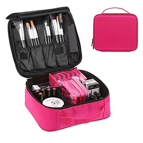 Trousse Make Up, Borsa Cosmetica, Beauty Case Donna Trucchi Porta Trucchi da Viaggio Organizer Professionali (Carmine)