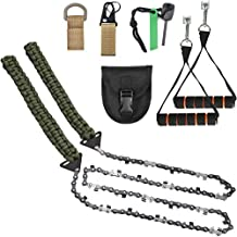 More Teeth Upgraded Pocket Chainsaw Survival Gear -36/48 Inch Long Chain Compact Hand Saw for Trees -Folding Hand Saw Tool for Camping, Hunting Emergency Kit -Backpacking Gadget Camp Saw (36)