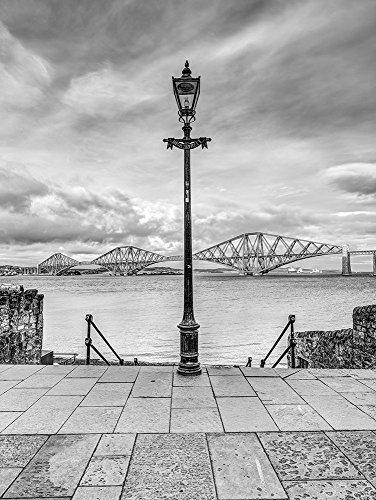 Posterazzi PDXAF20171017370XC01LARGE Forth Rail Bridge and lamp Post, Scotland, FTBR-1812 Photo Print, 24 x 36, Multi