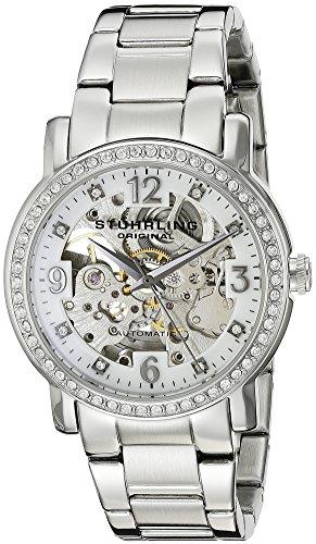 Stührling Original 531L.11112 - Reloj analógico para Mujer, Correa de Acero Inoxidable, Color Plateado