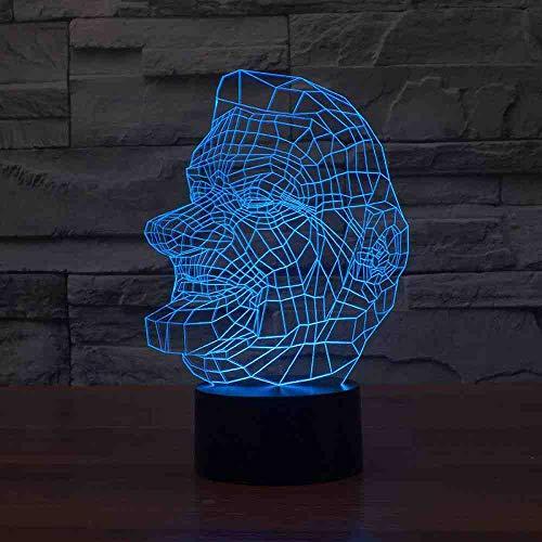 CDBAMX 3D-portret van een man, van steen, tafellamp, 7 kleuren, LED-kleurverandering, nachtlampje, babylicht, slaapverlichting, decoratie, kinderkamer