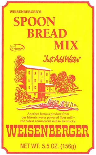 Weisenberger Spoon Bread Mix - Authentic, Old Fashioned, Southern Style Corn Bread Mix - Made From Non GMO Cornmeal - Traditional Cast Iron Spoonbread, Corn Muffins, and Corncake - 5.5 Oz - 2 Pack