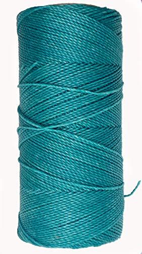 LINHASITA Bobina hilo encerado Linhasita 100gr / 170 metros 1 mm de grosor poliester (Azul Turquesa)