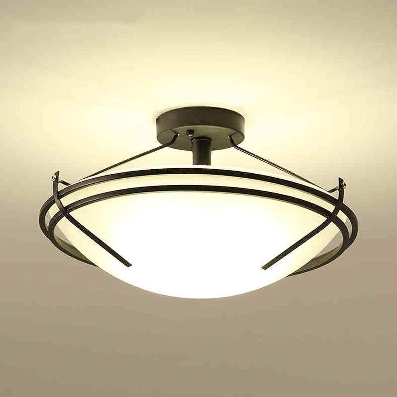 FuweiEncore Eisen Lounge Nordic European Lighting Lamp Lamp Circular der kreativen Persnlichkeit der Decke der Studie (Farbe   -, Gre   -)