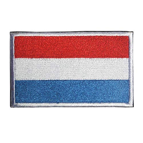 ShowPlus Luxemburg Flagge Patch Militär bestickt taktischer Patch (Luxemburg)
