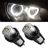 Led 6w 10w Fari per auto Occhi di angelo Led Angel Eyes E90 / e91 Lampadine per auto a LED Angel Eyes, estremamente luminose - Nero