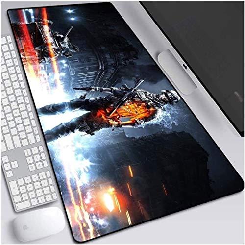 Alfombrilla de ratón para juegos Battlefield 5 grande para teclado XXL, alfombrilla de ratón extendida para computadora de escritorio y ordenador portátil (color : V, tamaño: 800 x 300 x 3 mm)