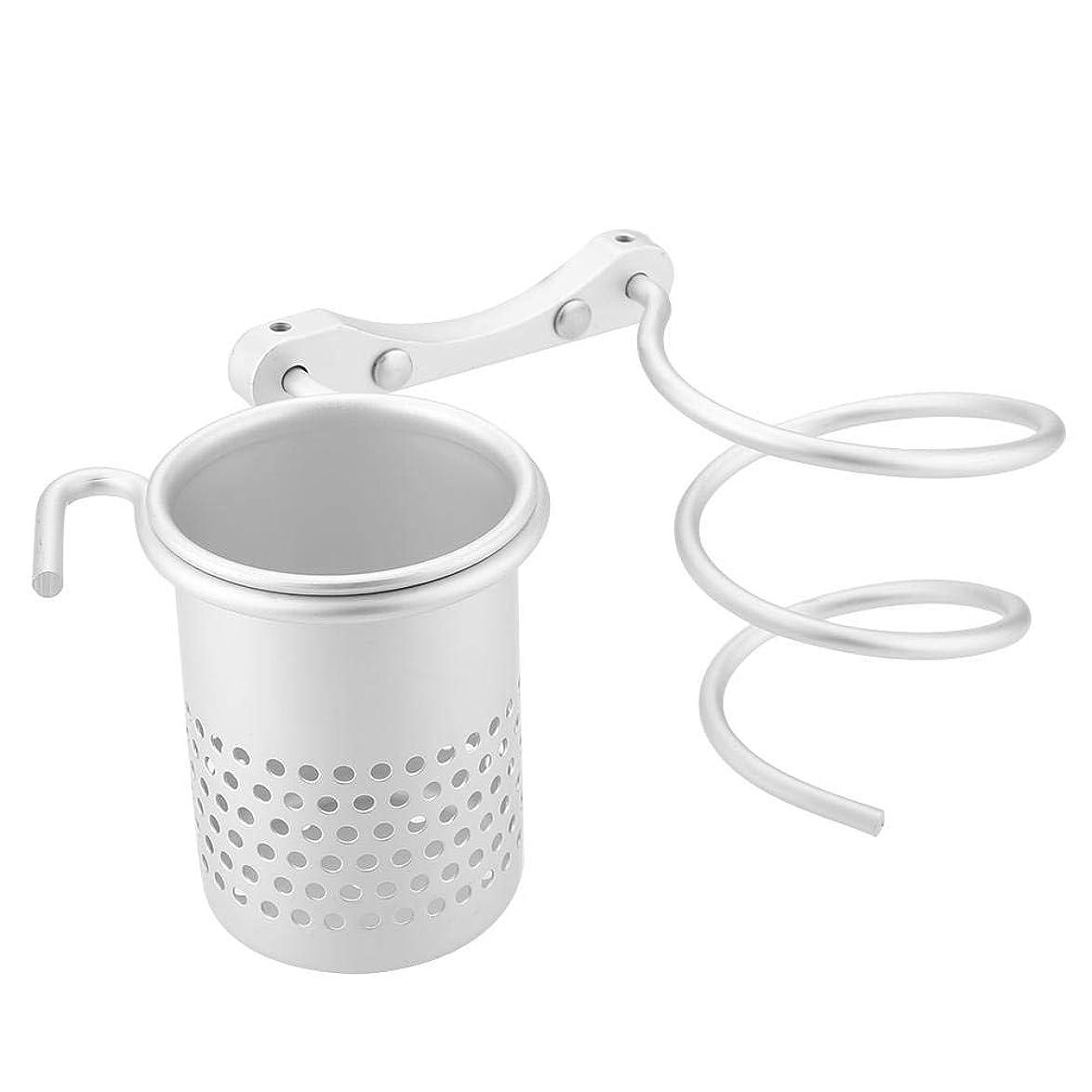 適用するそれら飼料ヘアドライヤーホルダー壁二重ブラケット、ステンレススチールポリッシュ仕上げバスルーム洗面所オーガナイザー収納ヘアブロードライヤーサポート