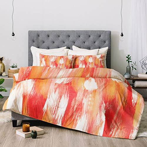 Duvet Cover Bed Set Comforter & Sheet Set Georgia Peach Bedding Sets 86x70 Inch Comforter Sets with 2 Bedroom Pillow Covers 20x30 Inch