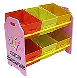 Kiddi Style Cajas Almacenaje Juguetes - Madera - Par Ninos -Diseño de ceras de...