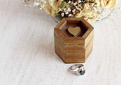 Vorschlag Herz Ring Box, Mini Box für Trauringe, Verlobungsring Box, Andenken Ring Box