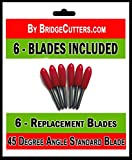 Standard Replacement 45 Degree Angle Cutting Blades for Craft Cutting Machines Compatible with Bridge Cricut Air Expression 2 Explore Maker Refine Cutters Includes 6 Blades