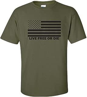 All Things Apparel Live Free or Die American Flag Men's T-Shirt