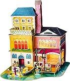 Robotime. Mittsommer in Venedig SJ406 - Holzmodellbau - Miniaturhaus mit LED-Licht - DIY