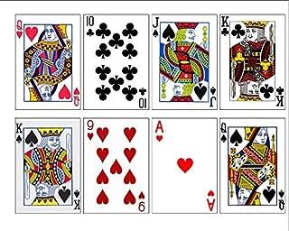Edible Playing Cards Cake Decoration- Casino Cake Edible cake image, Poker cake topper, Edible royal flush cake decoration (8 Playing Cards)
