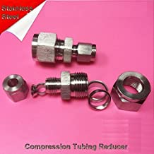 Compression Tubing Reducer 4mm to 3mm OD Stainless Steel Fitting LOK