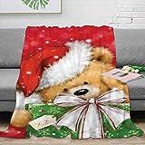 Elliot Dorothy Manta de forro polar con diseño de oso de Navidad, tamaño...