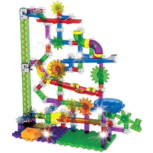 The Learning Journey: Techno Gears Marble Mania - Extreme Glo (200+ pcs) - Glow in The Dark Marble Run for Kids Ages 6 and Up - Award Winning Toys