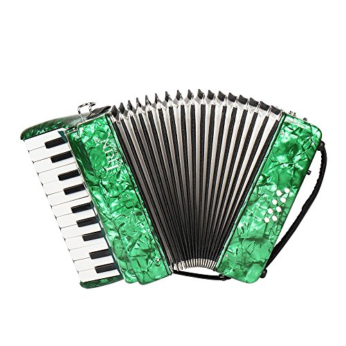 ammoon 22-Key 8 Bass Piano Accordion with Straps Cleaning Cloth Educational Music Instrument for Students Beginners Childern