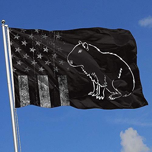 Elaine-Shop Outdoor Flags USA Flagge Capybara Clipart 4 * 6 Ft Flagge für Wohnkultur Sport Fan Fußball Basketball Baseball Hockey