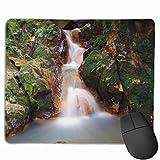 Waterfall Moss Stream Forest Tastiera rettangolare antiscivolo Mouse pad in gomma per laptop da casa e ufficio