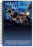 Successories 741326 Make It Happen Spiral Notebook [並行輸入品]