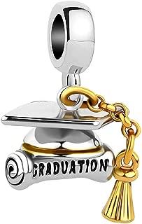 SexyMandala Graduation Hat Cap &Scroll European Style Pendant Charm Beads for Bracelets&Necklaces