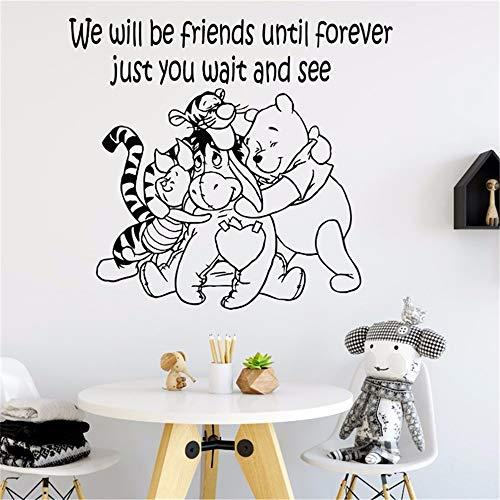 Winnie l'ourson sticker détachable autocollant winnie l'ourson sticker mural art enfant décoration pour bébé décoration murale applique
