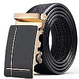 ZSDGY Cinturón de Hombre, Cinturón de aleación con Estilo Personalizado, Cinturón de Cuero B-110cm